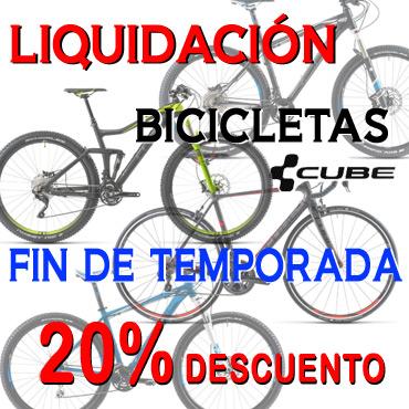 Liquidación bicicletas CUBE 2014 Fin de Temporada